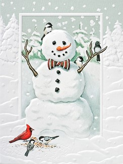 Jolly Snowman | American made Christmas cards