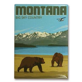 Montana Bears Big Sky Country | Metal Magnets