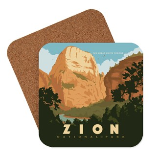 Zion Great White Throne Coaster | American made coasters