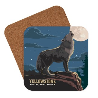 Yellowstone Gray Wolf Coaster | American made coasters