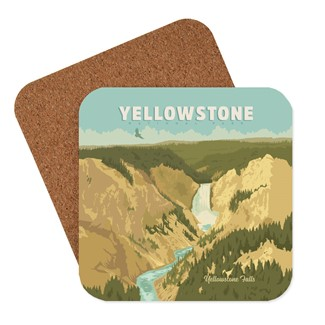 Grand Canyon of Yellowstone Coaster | American made coasters