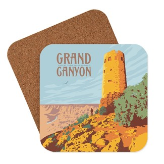 Grand Canyon Desert View Watchtower Coaster | Made in the USA