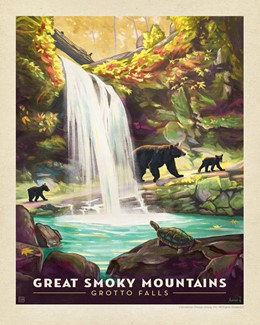 Great Smoky Grotto Falls Print | Made in the USA