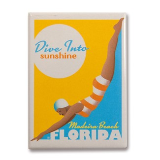 FLMB Dive Into Sunshine Magnet | Florida themed magnets