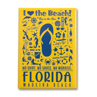 FLMB Flip Flop Pattern Print Magnet | American made magnets
