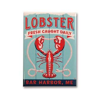 ME Lobster Bar Harbor Magnet | Made in the USA