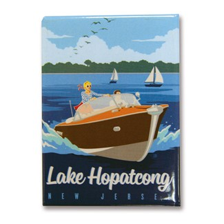 NJLH Speedboat Metal Magnet | Made in the USA