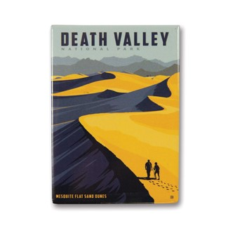 Death Valley Sand Dunes Metal Magnet | Made in the USA
