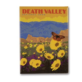 Death Valley Wildflowers Metal Magnet | Made in the USA