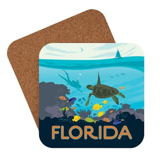 Florida Sea Turtle | American made coaster