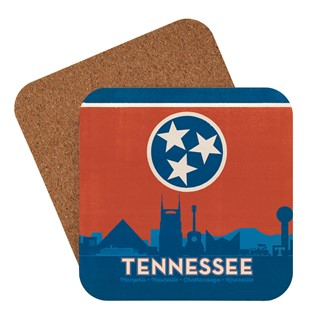 State Flag Cities of Tennessee | American made coaster