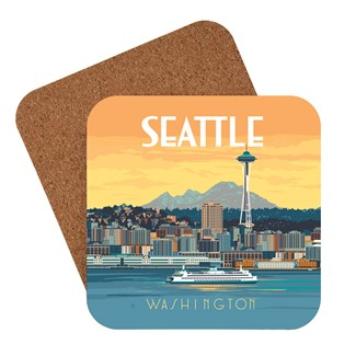 Washington Seattle Ferry | American made coaster
