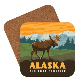Alaska Frontier Moose | American Made Coaster