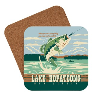 New Jersey Lake Hopatcong Gone Fishing | American made coaster