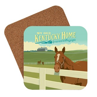 My Old Kentucky Home Horse | American Made Coaster