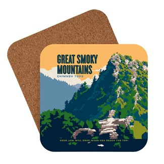Great Smoky Chimney Tops | American Made Coaster