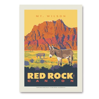 Red Rock Canyon: Mt. Wilson Vertical Sticker | Made in the USA