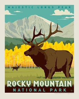 "Rocky Mountain Longs Peak 8"" x10"" Print 