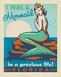 "FL Mermaid Queen 8"" x 10"" Print 