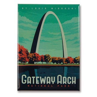 Gateway Arch NP Magnet | Metal Magnet