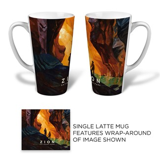 Zion Virgin River Narrows Latte | National park themed mugs