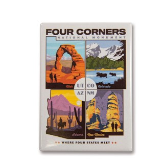 Four Corners Magnet | Made in the USA