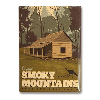Great Smoky Noah Bud Ogle Cabin | American made metal magnets
