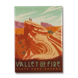 NV Valley of Fire State Park Magnet | Metal Magnet