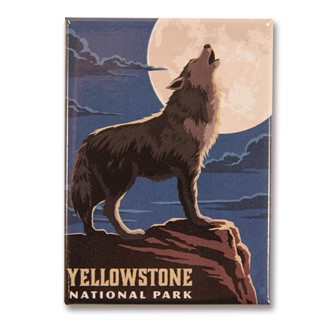 Yellowstone Gray Wolf | American made magnets.