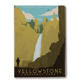 Yellowstone Tower Falls | American made magnets.