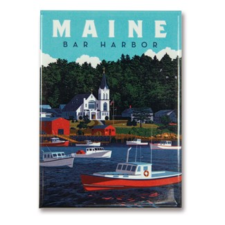 ME Bar Harbor Magnet | Metal Magnet