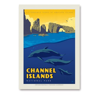 Channel Islands  | Vertical Sticker