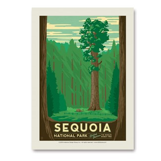 Sequoia | Vertical Sticker