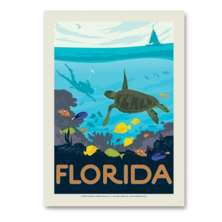 FL Sea Turtle | Vertical Sticker