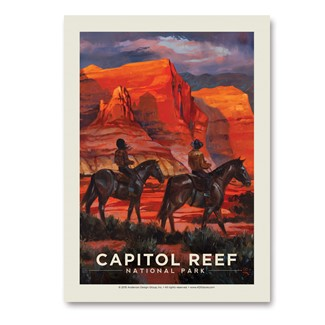 Capitol Reef by Horseback | Vertical Sticker