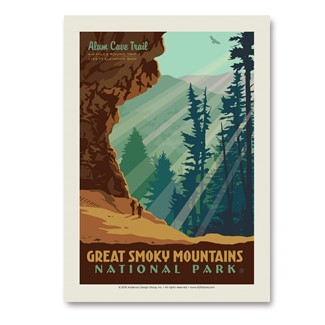 Great Smoky Alum Cave | Vertical Sticker
