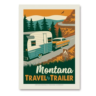 MT Travel by Trailer | Vertical Sticker