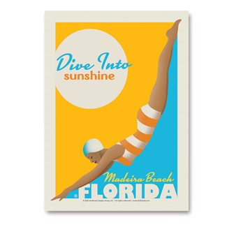 FLMB Dive Into Sunshine | Vertical Sticker