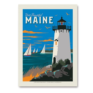 Visit Beautiful Maine | Vertical Sticker