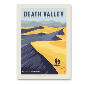 Death Valley Sand Dunes | Vertical Sticker