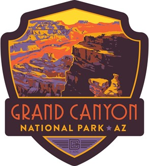 Grand Canyon Landscape Emblem Sticker | American Made