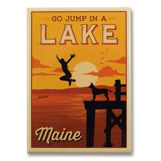 ME Jump In Lake Magnet | Metal Magnet