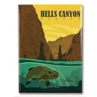Hells Canyon, OR Metal Magnet| American Made Magnet