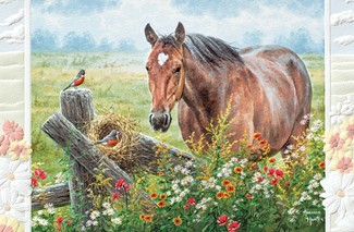 Pastoral Song | Horse Inspirational greeting cards