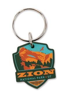 Zion Emblem Wooden Key Ring | American Made