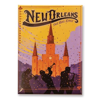 New Orleans The Big Easy Magnet | Metal Magnet