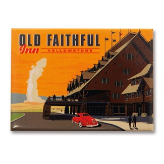 Yellowstone Old Faithful Inn Magnet | American Made Magnet