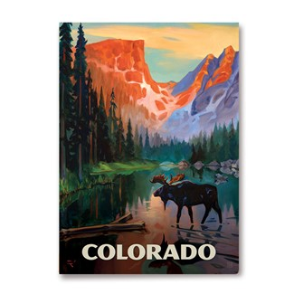CO Moose in the Morning Magnet | Metal Magnet