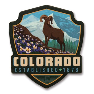 Columbine CO Wooden Emblem Magnet | American Made