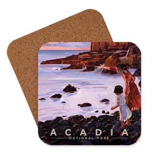 Acadia Otter Cliffs Coaster | American Made Coaster